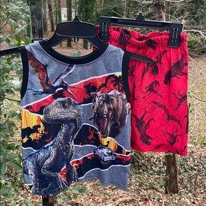 Jurassic World 2 pc Dinosaur Pajama Set Shorts 4/5